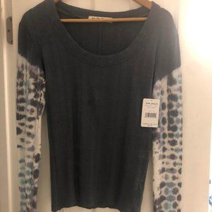 Free People Big Sur Tye Dye Sleeve Tee